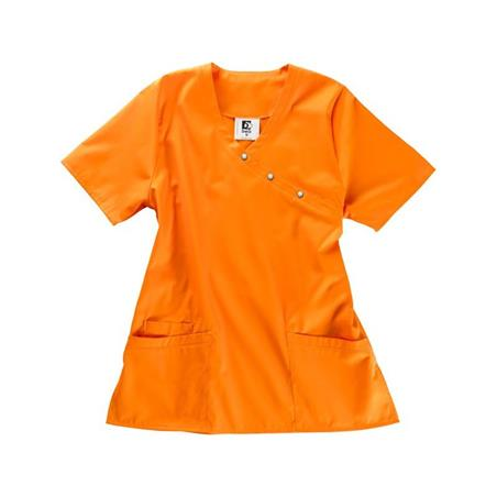 Schlupfjacke Damen in ihrer Region Bargebur DAMEN KASACKS ORANGE - Damenkasack - Kasack Damen - Kasack Pflege