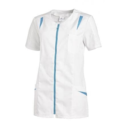 HOSENKASACK 2533 VON LEIBER in WEISS-TÜRKIS - berufskleidung pflege medizin in ihrer Region Härtnagel, Allgäu;Härtnagel am Mariaberg - DAMENKASACK - DAMENKASACKS - KASACK - KASACKS - SCHLUPFKASACK