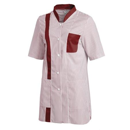 HOSENKASACK 634 VON LEIBER in WEISS-BORDEAUX - berufskleidung pflege medizin in ihrer Region Härtnagel, Allgäu;Härtnagel am Mariaberg - DAMENKASACK - DAMENKASACKS - KASACK - KASACKS - SCHLUPFKASACK