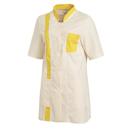 HHOSENKASACK 634 VON LEIBER in WEISS-GELB - berufskleidung pflege medizin in ihrer Region Härtnagel, Allgäu;Härtnagel am Mariaberg - DAMENKASACK - DAMENKASACKS - KASACK - KASACKS - SCHLUPFKASACK
