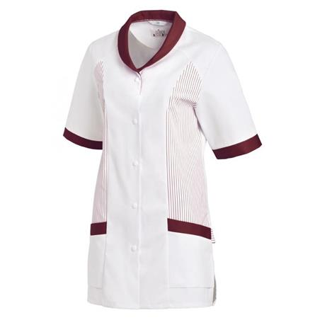 HOSENKASACK 800 VON LEIBER in WEISS-BORDEAUX - berufskleidung pflege medizin in ihrer Region Härtnagel, Allgäu;Härtnagel am Mariaberg - DAMENKASACK - DAMENKASACKS - KASACK - KASACKS - SCHLUPFKASACK