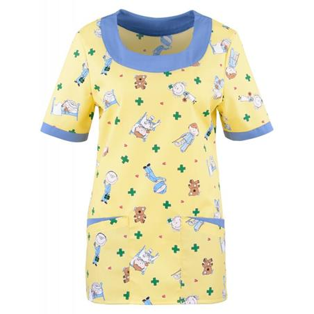KASACK 2384 VON BEB / KINDERMOTIV - GELB - - Heute im Angebot: Poloshirt 241 von LEIBER / Farbe: bordeaux in der Region Seddiner See - DAMENKASACK - DAMENKASACKS - KASACK - KASACKS - SCHLUPFKASACK