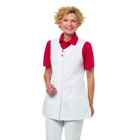 KASACK 2758 VON LEIBER in WEISS-ROT - berufskleidung pflege medizin in ihrer Region Härtnagel, Allgäu;Härtnagel am Mariaberg - DAMENKASACK - DAMENKASACKS - KASACK - KASACKS - SCHLUPFKASACK