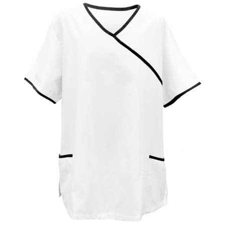 KASACK 281 in WEISS / SCHWARZ - berufskleidung pflege medizin in ihrer Region Härtnagel, Allgäu;Härtnagel am Mariaberg - DAMENKASACK - DAMENKASACKS - KASACK - KASACKS - SCHLUPFKASACK