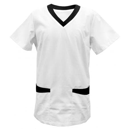KASACK 282 in WEISS / SCHWARZ - berufskleidung pflege medizin in ihrer Region Härtnagel, Allgäu;Härtnagel am Mariaberg - DAMENKASACK - DAMENKASACKS - KASACK - KASACKS - SCHLUPFKASACK