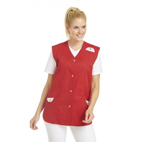 KASACK OHNE ARM 750 VON LEIBER in ROT - berufskleidung pflege medizin in ihrer Region Härtnagel, Allgäu;Härtnagel am Mariaberg - DAMENKASACK - DAMENKASACKS - KASACK - KASACKS - SCHLUPFKASACK