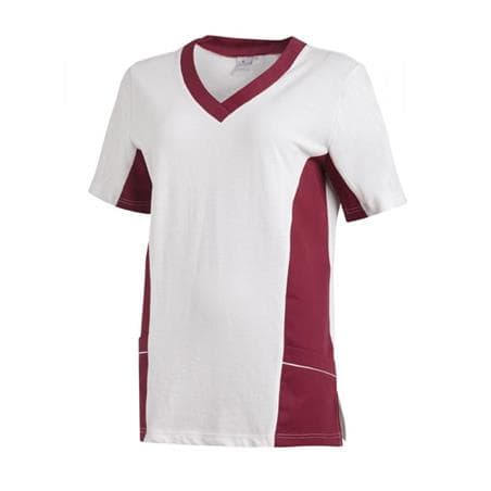 SCHLUPFJACKE 2531 VON LEIBER / FARBE: WEISS-BEERE - berufskleidung pflege medizin in ihrer Region Härtnagel, Allgäu;Härtnagel am Mariaberg - DAMENKASACK - DAMENKASACKS - KASACK - KASACKS - SCHLUPFKASACK