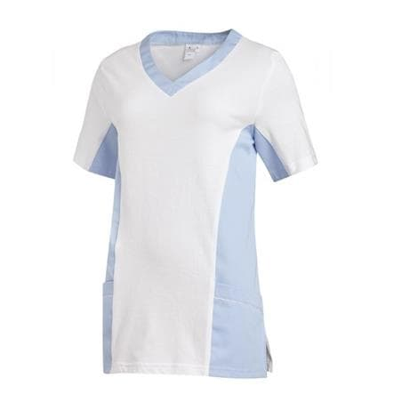 SCHLUPFJACKE 2531 VON LEIBER / FARBE: WEISS-HELLBLAU - berufskleidung pflege medizin in ihrer Region Härtnagel, Allgäu;Härtnagel am Mariaberg - DAMENKASACK - DAMENKASACKS - KASACK - KASACKS - SCHLUPFKASACK