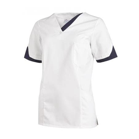 SCHLUPFJACKE 2539 VON LEIBER / FARBE: WEISS-MARINE - berufskleidung pflege medizin in ihrer Region Härtnagel, Allgäu;Härtnagel am Mariaberg - DAMENKASACK - DAMENKASACKS - KASACK - KASACKS - SCHLUPFKASACK
