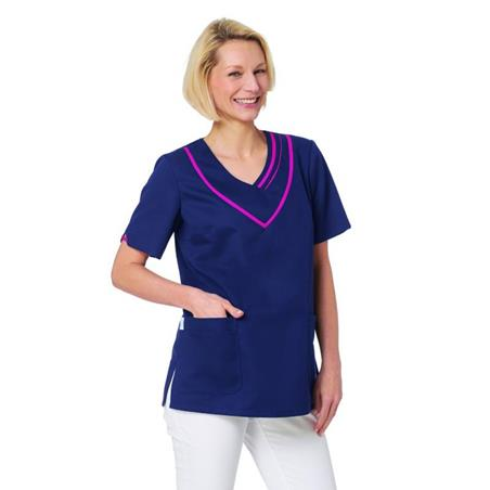SCHLUPFJACKE 2652 VON LEIBER / FARBE: MARINE-FUCHSIA - berufskleidung pflege medizin in ihrer Region Härtnagel, Allgäu;Härtnagel am Mariaberg - DAMENKASACK - DAMENKASACKS - KASACK - KASACKS - SCHLUPFKASACK